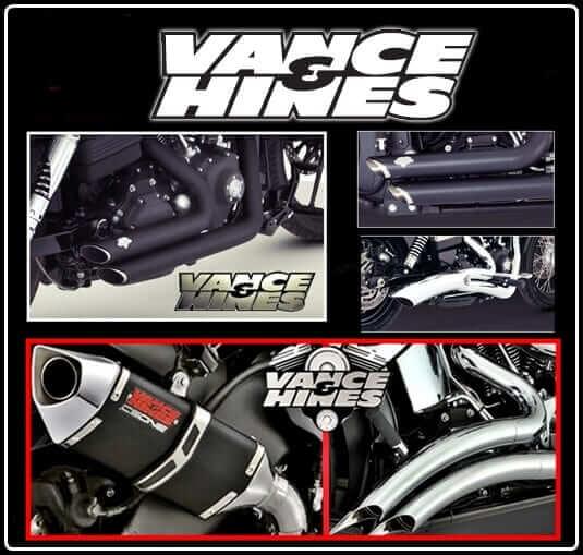 Vance and Hines shortshots / big radius exhausts