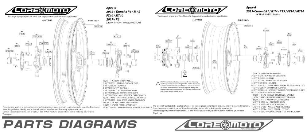 parts diagram custom wheels motorcycle
